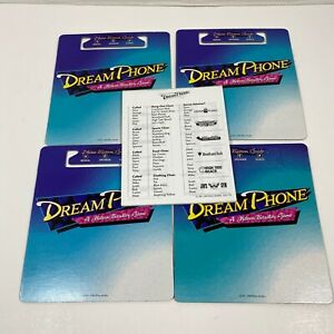 Vintage Electronic Dream Phone Board Game Replacement Parts Clue Sheets & Boards