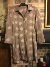 ELEGANIZE SIZE 14 BRONZE COAT WITH CIRCLES PATTERN