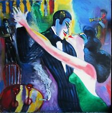 EARL LINDERMAN, I COULD DANCE ALL NIGHT, OIL/CANVAS 36x36, ARTIST SIGNED 5 TIMES