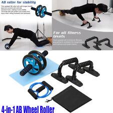Home Exercise Muscle 4-in-1 AB Wheel Roller Kit Spring Exerciser Press Wheel Pro
