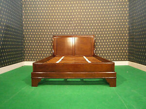 NEW Mahogany  4'6 Double Size Sleigh style Bed , bedframe ....TOP Quality Bed