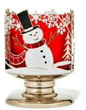 BATH & BODY WORKS 3-WICK JOYFUL SNOWMAN CANDLE HOLDER NEW