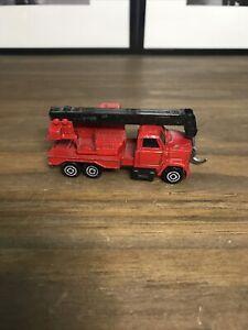 MAJORETTE Camion chantier grue Rouge n°283 1/100 Véhicule Miniature Collection