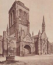 G1935 France - Locronan - L'église et la chapelle du Pénity - 1936 vintage print