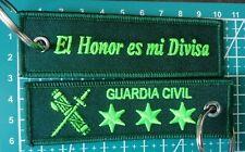 Llavero bordado CAPITÁN GUARDIA CIVIL DE ESPAÑA El Honor es mi Divisa