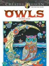 Adult Colouring Book OWL Theme Coloring In Aussie Stock Fun Relax Mindfulness
