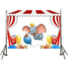 Carnival Circus Stage Dumbo Elephant Balloons Custom Party Backgrounds Backdrops