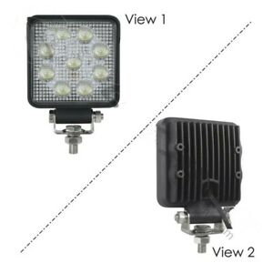 WORK LAMP LED 4IN SQUARE FLOOD 1755 LM