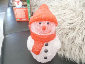 Konst Smide Indoor Battery Operated LED Christmas Snowman
