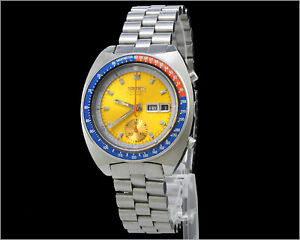 "Vintage 1970's Rare Seiko - ""Pepsi Pogue"" - 6139-6002 - Chronograph"