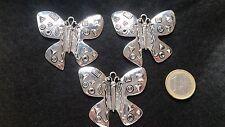 Angebot 2x1 ! Der 3 Auf 200 Anhänger Zamak Schmetterling (HADA-14) Perlen