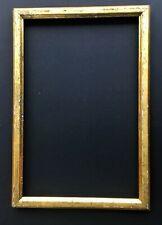 rare vintage Napoleon era 7 x 11 gold plated wood frame cadre bois doré ca 1810