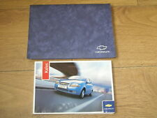 CHEVROLET KALOS OWNERS MANUAL HANDBOOK PACK  2005 - 2009  FREE UK POSTAGE