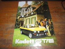 Prospekt Sales Brochure Opel Kadett GT/E Auto Car Fahrzeug Wagen