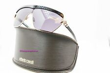 ROBERTO CAVALLI Mirihi 749S 28B Black/Gold Gray Grad Shield Sunglasses NWC AUTH