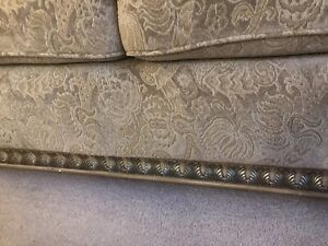 Furniture for sale, fabric sofa with quality fabric and elegant wooden trim.