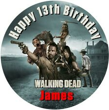 """THE WALKING DEAD  personalised icing sheet cake topper 7.5"""" Round"""