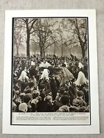 1952 Vintage Stampa British Royalty King George IV Funeral Procession Londra