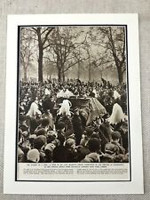 1952 Vintage Print British Royalty King George IV Funeral Procession London