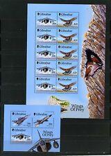 Gibraltar 1999 Sc# 811A, 814A AVIATION FEUILLE DE 10 timbres & S/S MNH