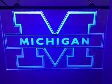 Michigan Wolverines Led Neon Light Sign Game Room , Bar , garage Sign Man Cave