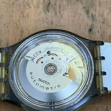 Vintage Swatch automatic watch, exhibition case