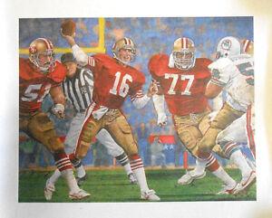 1985 SuperBowl XIX Joe Montana 49ers Football Coca Cola Coke 16x20 Litho Poster