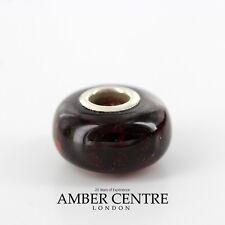 Amber Trolls fits all charm bracelets Black Cherry Amber 925 Ag RRP£35!!! CHA49