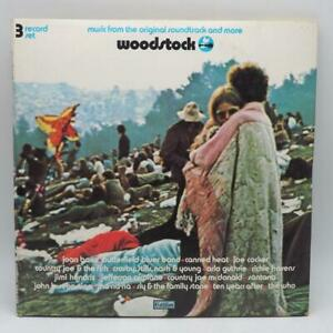 Vintage Woodstock Musique de La Bande Originale Vinyle LP Album SD 3-500