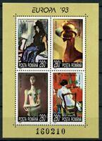 Europa 1993 Paintings Sculpture mnh Souvenir Sheet Romania #3828 Picasso