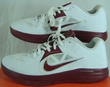 New Mens 18 NIKE Lunar HyperGamer Low TB White Maroon Alabama Shoes $115 511368