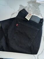 Levi's Men's Black 514 Stretch Straight Leg Denim Jeans Pants Size 36W 30L