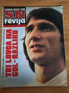 Magazine SN Revija #3 football Surjak Hajduk Split vs Athletico Madrid game 1976