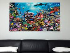 """Spectacular Reef Canvas Artwork (44""""x76"""" wide)"""