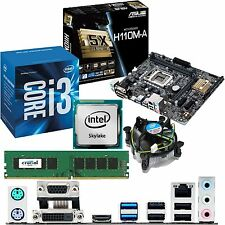 Intel Core i3 6100 3.7ghz & Asus h110m-a & 4gb ddr4 2133 Crucial Bundle