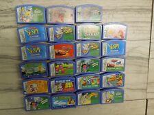 LOT OF 23 Leapfrog LeapPad Leapster Game Cartridges DISNEY I SPY DORA etc