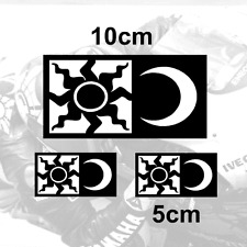 x3 Valentino Rossi Sticker SUN and MOON Vinyl Decal (W1)