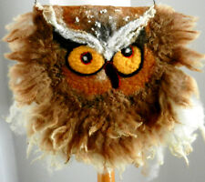 STUNNING felted woman ART  bag-OWL-