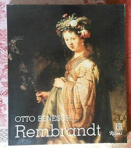 Rembrandt by Otto Benesch, paperback. His Life & Paintings, Illustrated. Art. GC