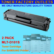 2PK MLT-D101S New Toner Cartridge For SAMSUNG SCX-3400FW SCX-3405F SCX-3405W