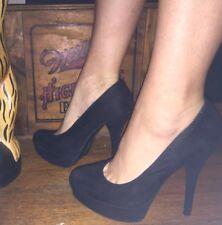 Sexy Womens Brash High Heels Platform Stiletto Black Shoes Size 8.5 Dancer 81/2