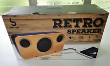New Bass Jaxx Wood Grain Design Blue Retro Speaker iPOD iPhone iPAD 3AAA Battery