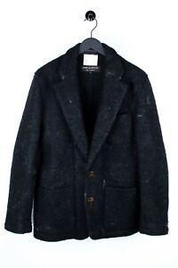 Comme Des Garcons Homme Plus Woven Wool Men Jacket Coat Size L