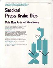 Cincinnati Stocked Press Brake Dies