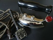 More details for iron - smoothwell premier system - vintage 1930s - light socket connection cable