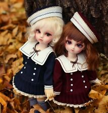 【Tii】students outfit 2 colors For BJD 1/6 YOSD DD GR DZ Doll Clothes dress wine
