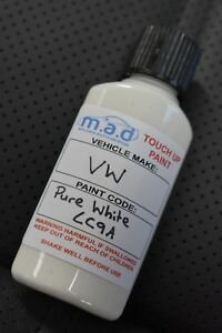 VW LC9A PURE WHITE GOLF GTI R TIGUAN POLO TOUCH UP KIT BRUSH REPAIR PAINT