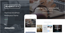 Wordpress marketify theme + EDD (easy digital download plugin)