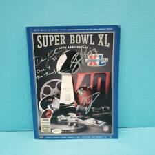 PITTSBURGH STEELERS SEATTLE SEAHAWKS SUPER BOWL XL 40 GAME PROGRAM Signed