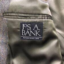 Jos A Bank Herringbone 100% Wool Sports Coat Blazer Size Men's 39Reg Sharp!!!